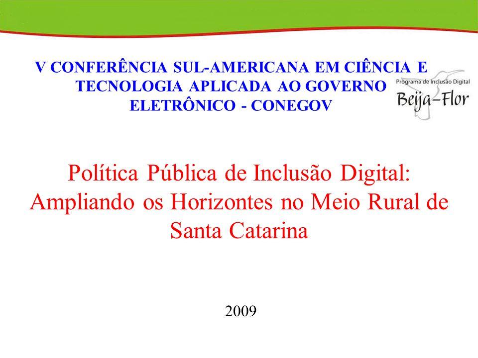 Meio Rural Catarinense 293 Municípios 20% da pop.reside meio rural.