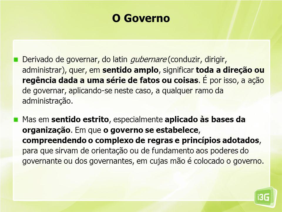 Derivado de governar, do latin gubernare (conduzir, dirigir, administrar), quer, em sentido amplo, significar toda a direção ou regência dada a uma sé