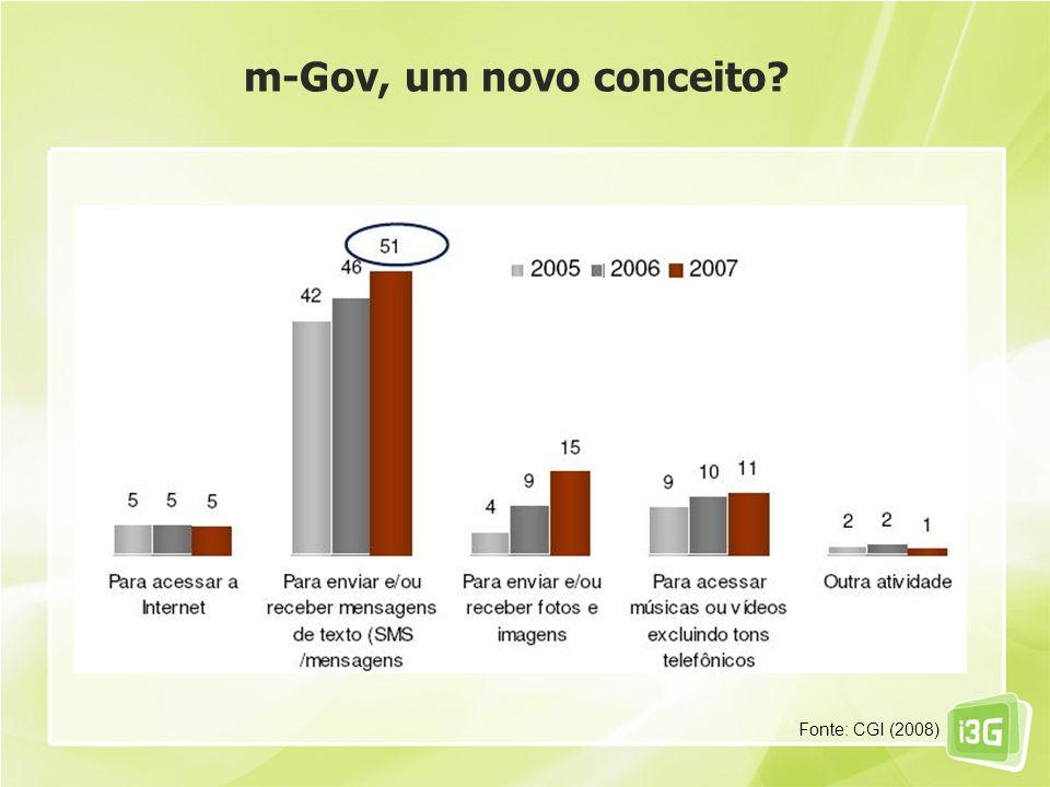 m-Gov, um novo conceito? Fonte: CGI (2008)