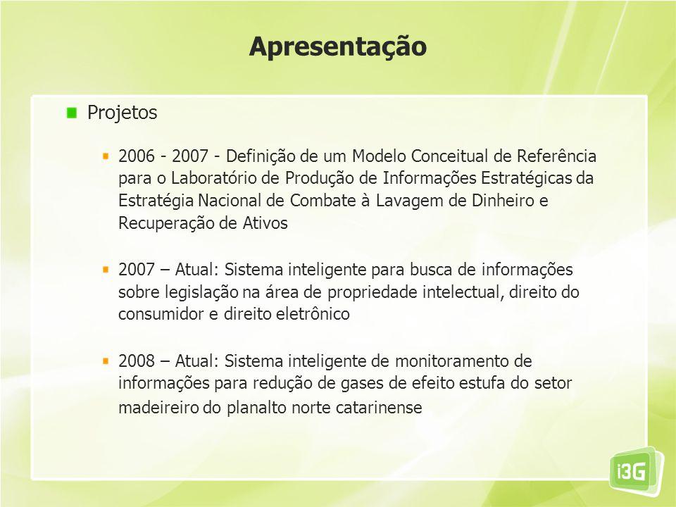 Projetos 2006 - 2007 - Definição de um Modelo Conceitual de Referência para o Laboratório de Produção de Informações Estratégicas da Estratégia Nacion