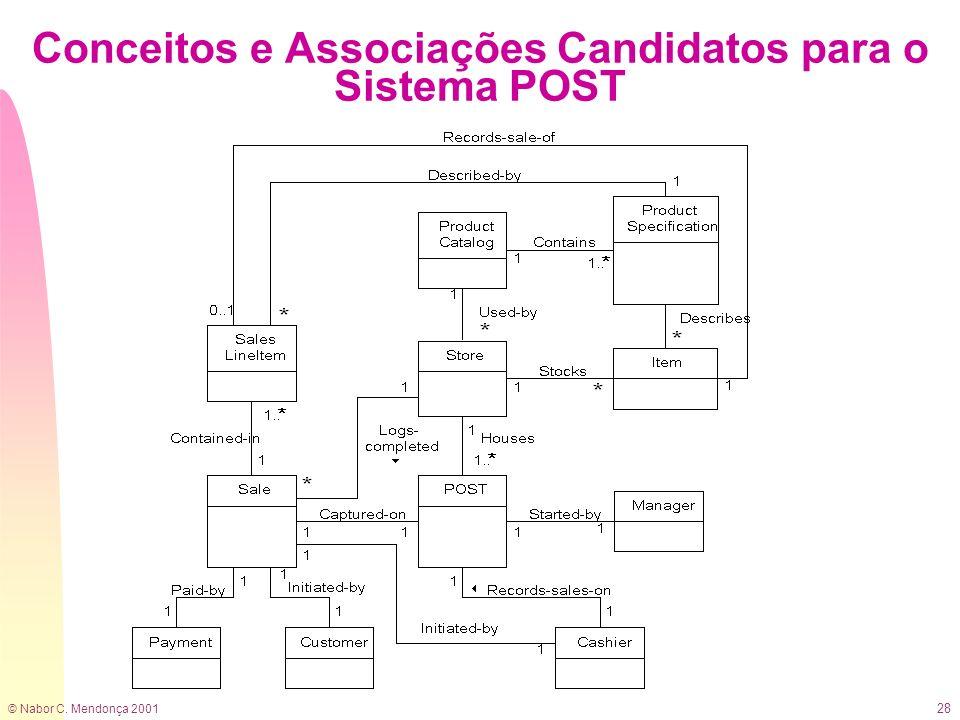 © Nabor C. Mendonça 2001 28 Conceitos e Associações Candidatos para o Sistema POST