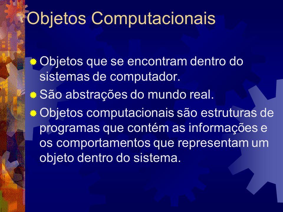 Os diferentes tipos de Objetos Objetos computacionais visuais Objetos com tarefa relacionada Objetos multimídia