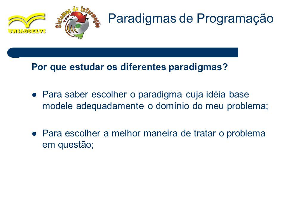 15 Paradigma Sequencial ou Procedural