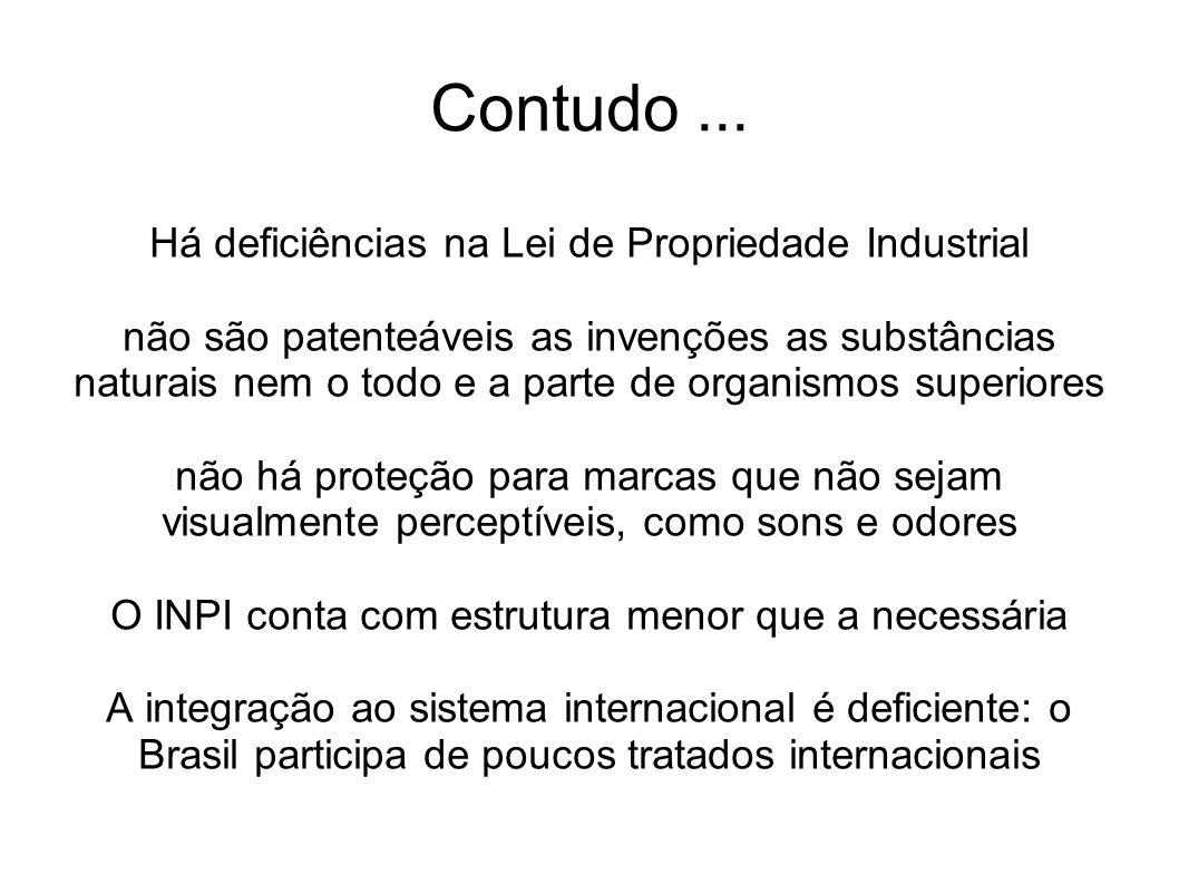 E mais grave: Não há no Brasil uma cultura consolidada de inovação e propriedade intelectual As empresas e instituições de pesquisa brasileiras não compreendem adequadamente o sistema de PI e o utilizam menos do que seria possível, e de maneira pouco estratégica