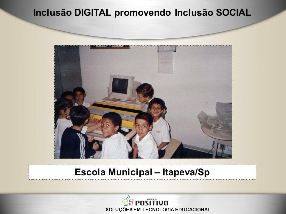 SOLUÇÕES EM TECNOLOGIA EDUCACIONAL Inclusão DIGITAL promovendo Inclusão SOCIAL Escola Municipal – Itapeva/Sp