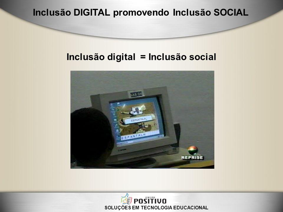 SOLUÇÕES EM TECNOLOGIA EDUCACIONAL Inclusão DIGITAL promovendo Inclusão SOCIAL Escola Municipal Fazenda Paraíso– São João da Boa Vista/Sp