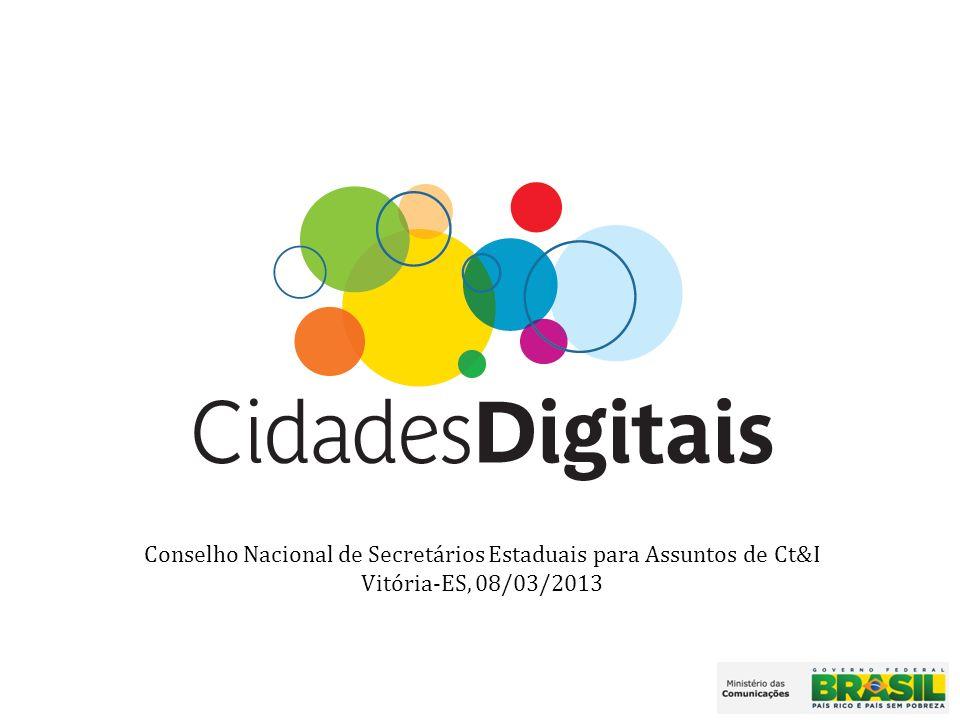Conselho Nacional de Secretários Estaduais para Assuntos de Ct&I Vitória-ES, 08/03/2013
