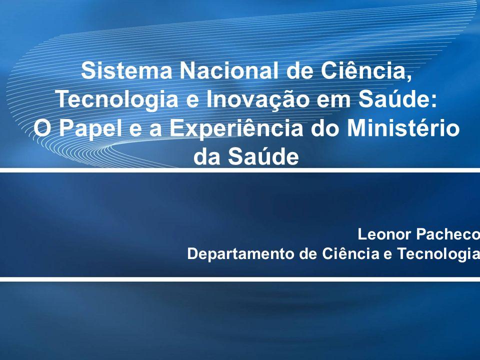 Page 2 Criação em 2000 do Departamento de Ciência e Tecnologia; Criação em 2003 da Secretaria de Ciência, Tecnologia e Insumos Estratégicos.