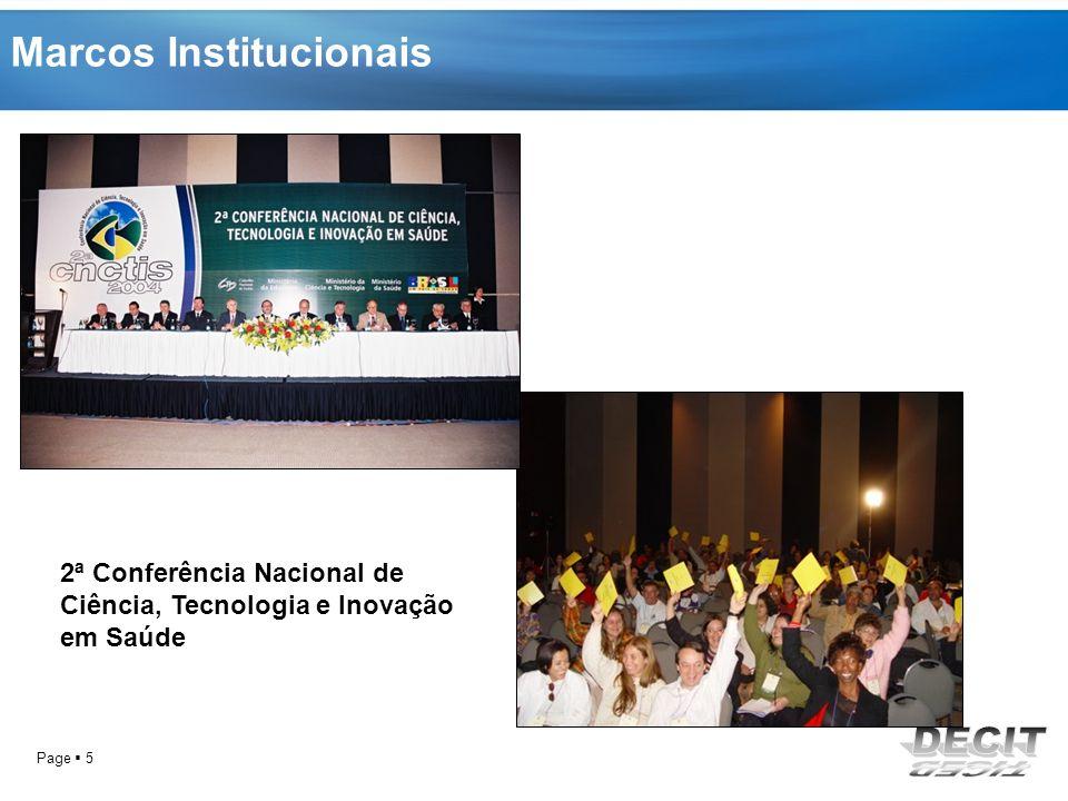 Page 6 Criação e pactuação da PNCTIS Construção da ANPPS 1994 Realização Da 1º CNCTS 2004 Realização 2ª CNCTIS Marcos institucionais