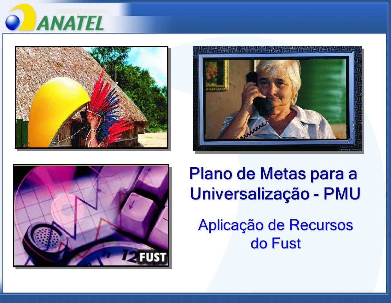 Plano de Metas para a Universalização - PMU Aplicação de Recursos do Fust