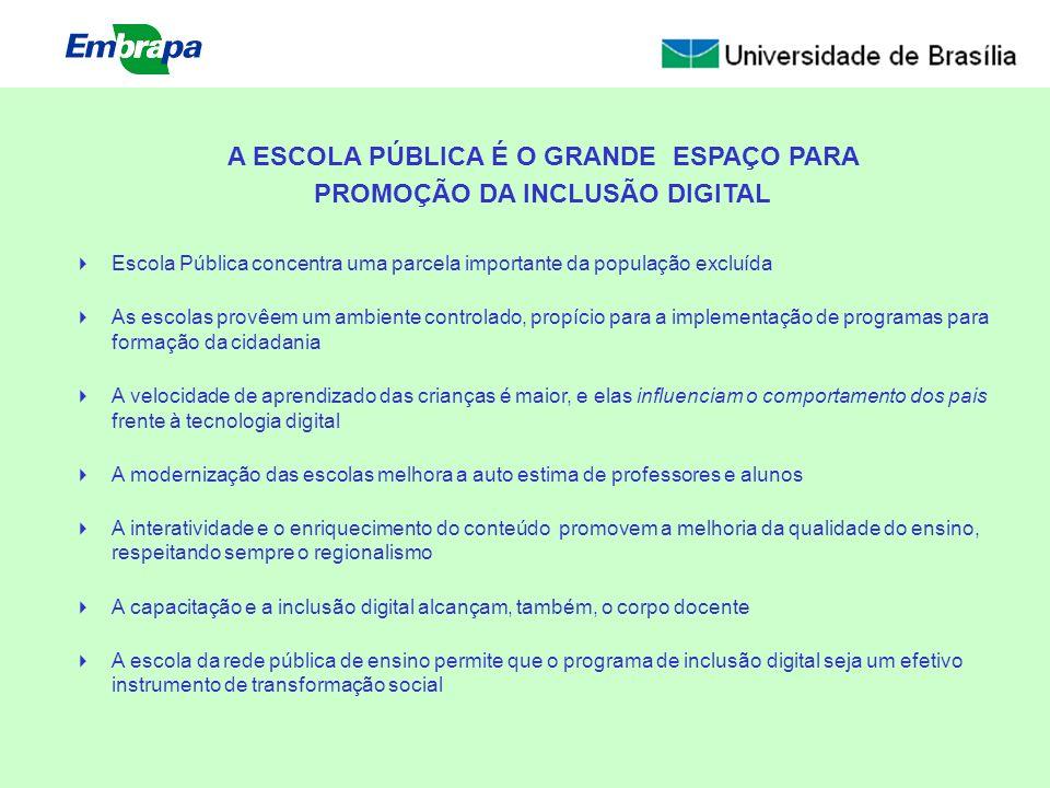Escola Pública concentra uma parcela importante da população excluída As escolas provêem um ambiente controlado, propício para a implementação de prog