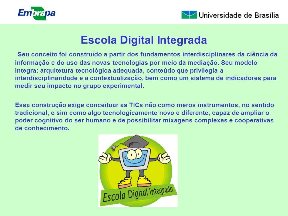 Escola Digital Integrada Seu conceito foi construído a partir dos fundamentos interdisciplinares da ciência da informação e do uso das novas tecnologi