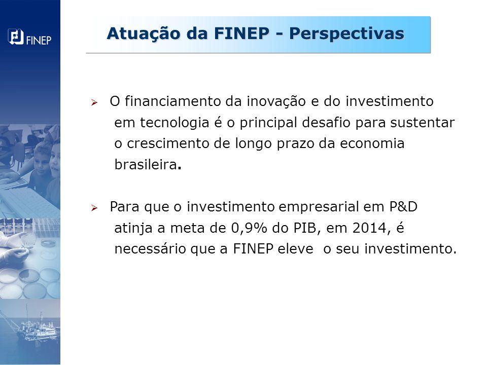 O financiamento da inovação e do investimento em tecnologia é o principal desafio para sustentar o crescimento de longo prazo da economia brasileira.