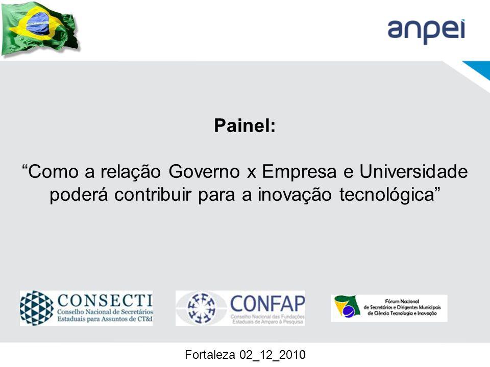 Painel: Como a relação Governo x Empresa e Universidade poderá contribuir para a inovação tecnológica Fortaleza 02_12_2010