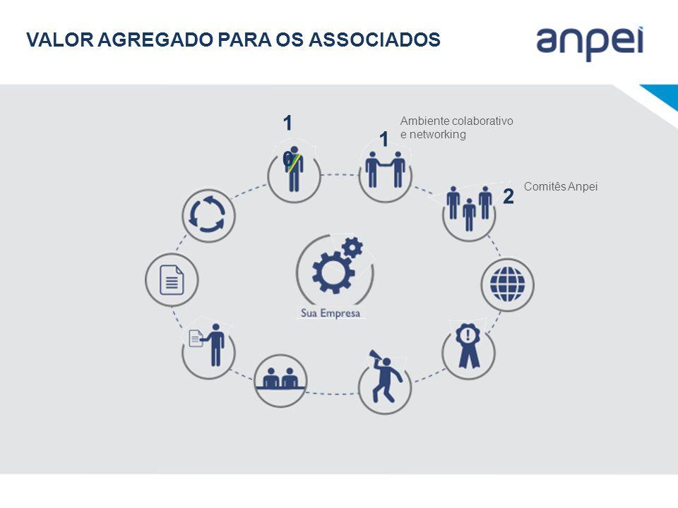 1010 Ambiente colaborativo e networking 1 Comitês Anpei 2 VALOR AGREGADO PARA OS ASSOCIADOS