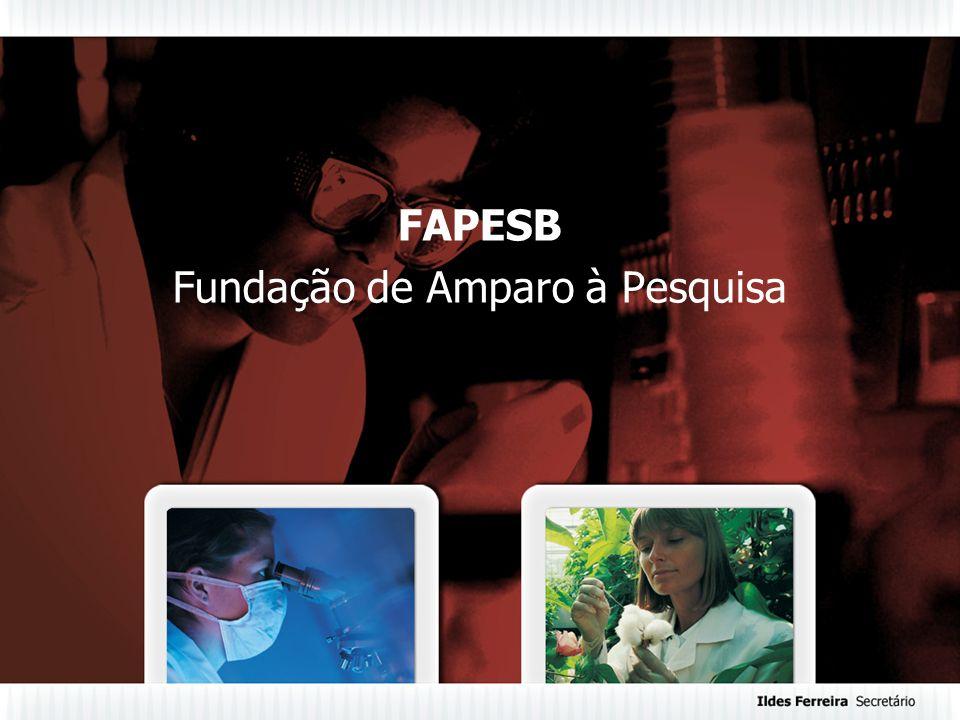 FAPESB Fundação de Amparo à Pesquisa