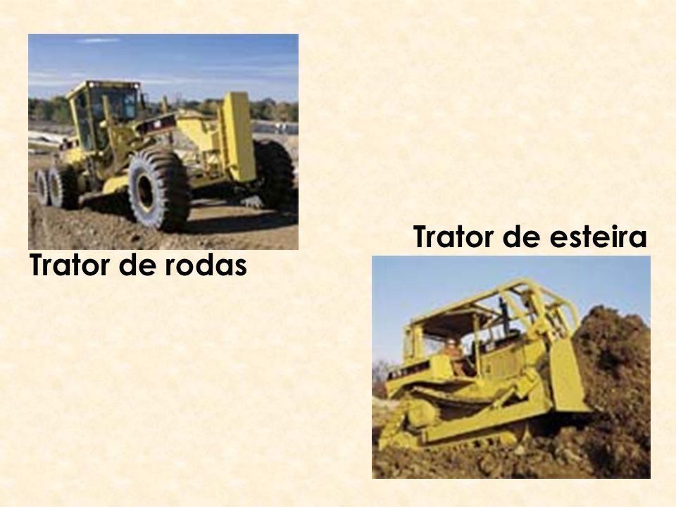 Trator de rodas Trator de esteira