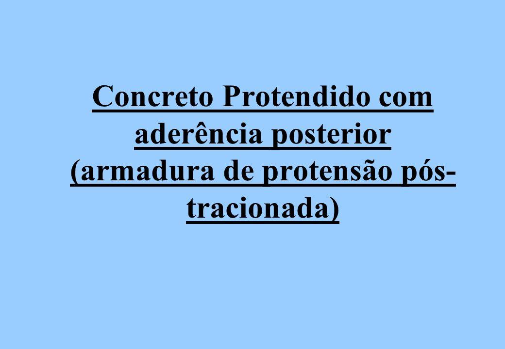 Concreto Protendido com aderência posterior (armadura de protensão pós- tracionada)