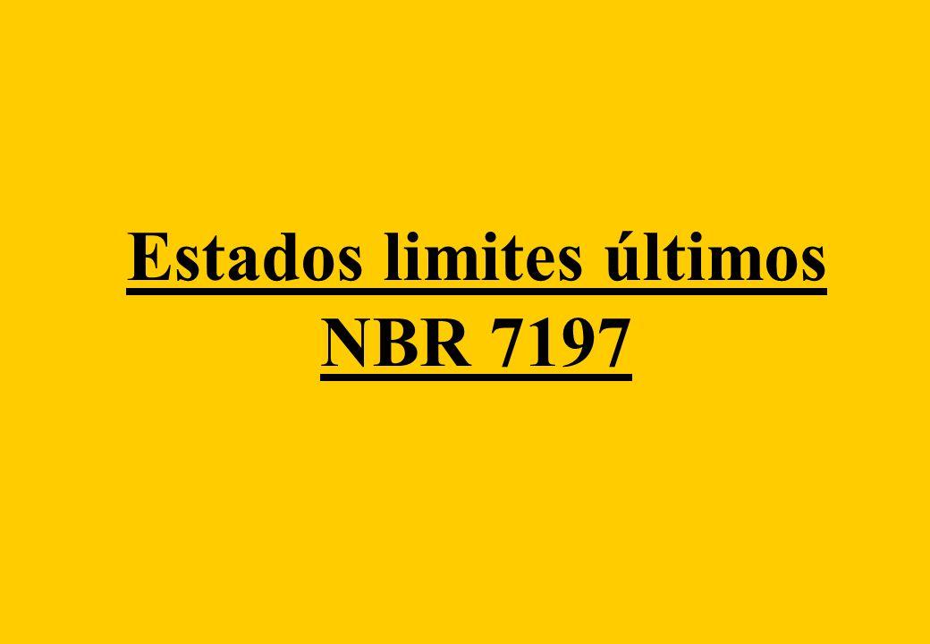Estados limites últimos NBR 7197