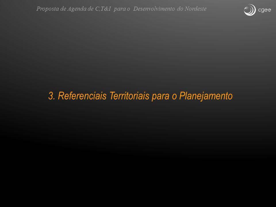3. Referenciais Territoriais para o Planejamento Proposta de Agenda de C,T&I para o Desenvolvimento do Nordeste