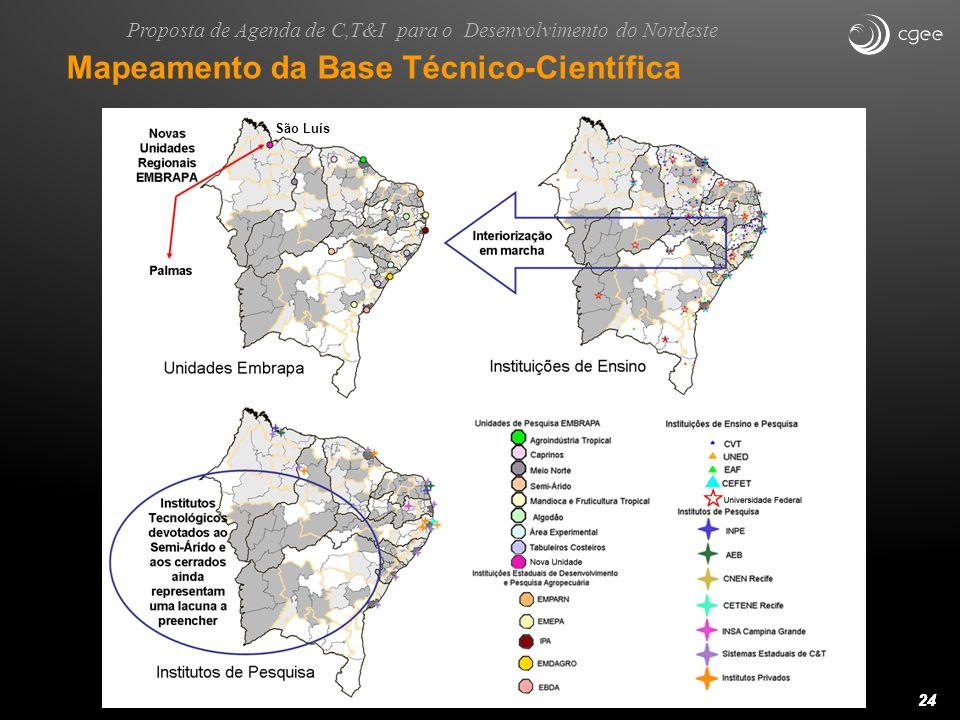 24 Nova Unidade Regional EMBRAPA Institutos Tecnológicos devotados ao Semi-Árido e aos cerrados ainda representam uma lacuna a preencher Interiorizaçã