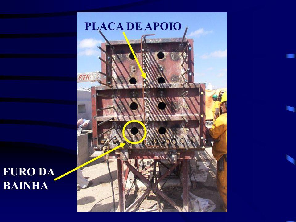 PLACA DE APOIO FURO DA BAINHA