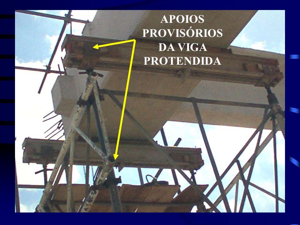 APOIOS PROVISÓRIOS DA VIGA PROTENDIDA