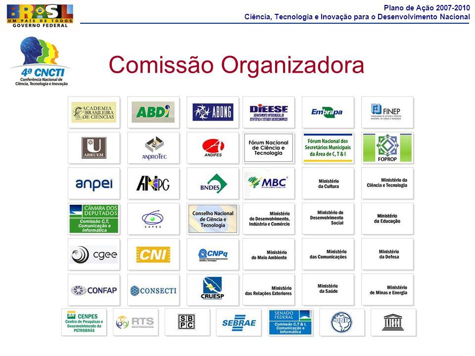 Comissão Organizadora Plano de Ação 2007-2010 Ciência, Tecnologia e Inovação para o Desenvolvimento Nacional
