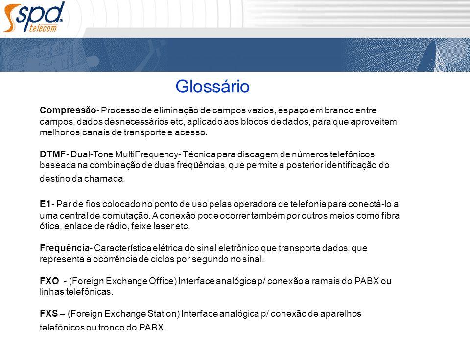 Glossário Compressão- Processo de eliminação de campos vazios, espaço em branco entre campos, dados desnecessários etc, aplicado aos blocos de dados,