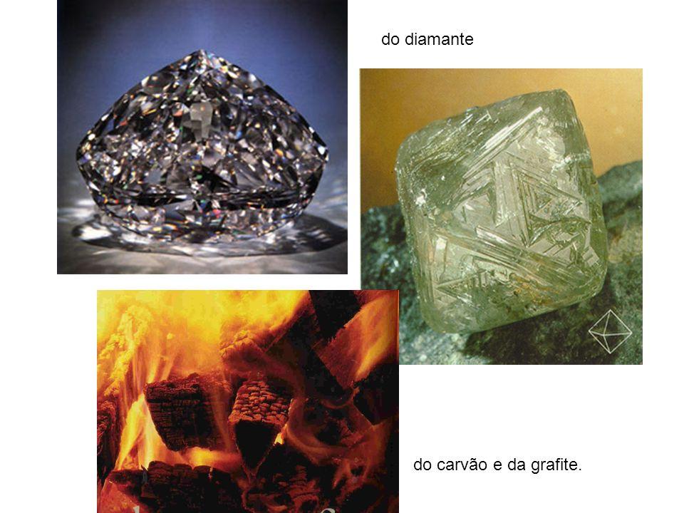 do diamante do carvão e da grafite.