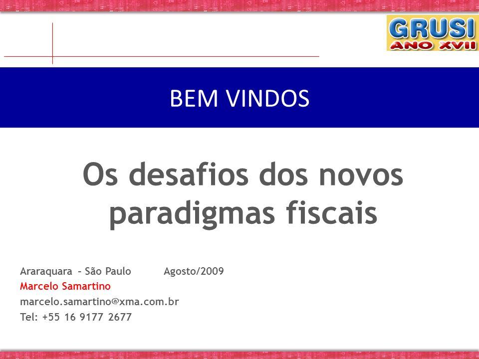 Araraquara – São Paulo Agosto/2009 Marcelo Samartino marcelo.samartino@xma.com.br Tel: +55 16 9177 2677 BEM VINDOS Os desafios dos novos paradigmas fi