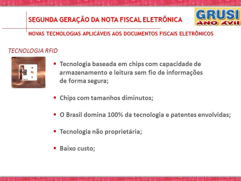 SEGUNDA GERAÇÃO DA NOTA FISCAL ELETRÔNICA NOVAS TECNOLOGIAS APLICÁVEIS AOS DOCUMENTOS FISCAIS ELETRÔNICOS TECNOLOGIA RFID Tecnologia baseada em chips