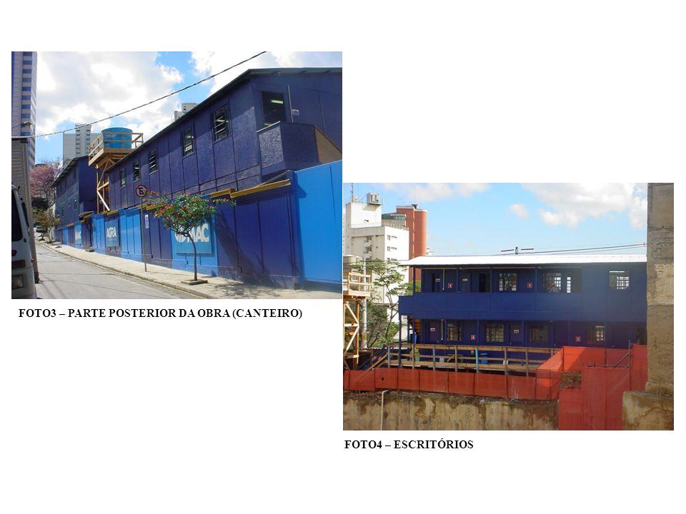 FOTO 23 – LOCAÇÃO DAS FUNDAÇÕES E DOS LIMITES DA CONSTRUÇÃO