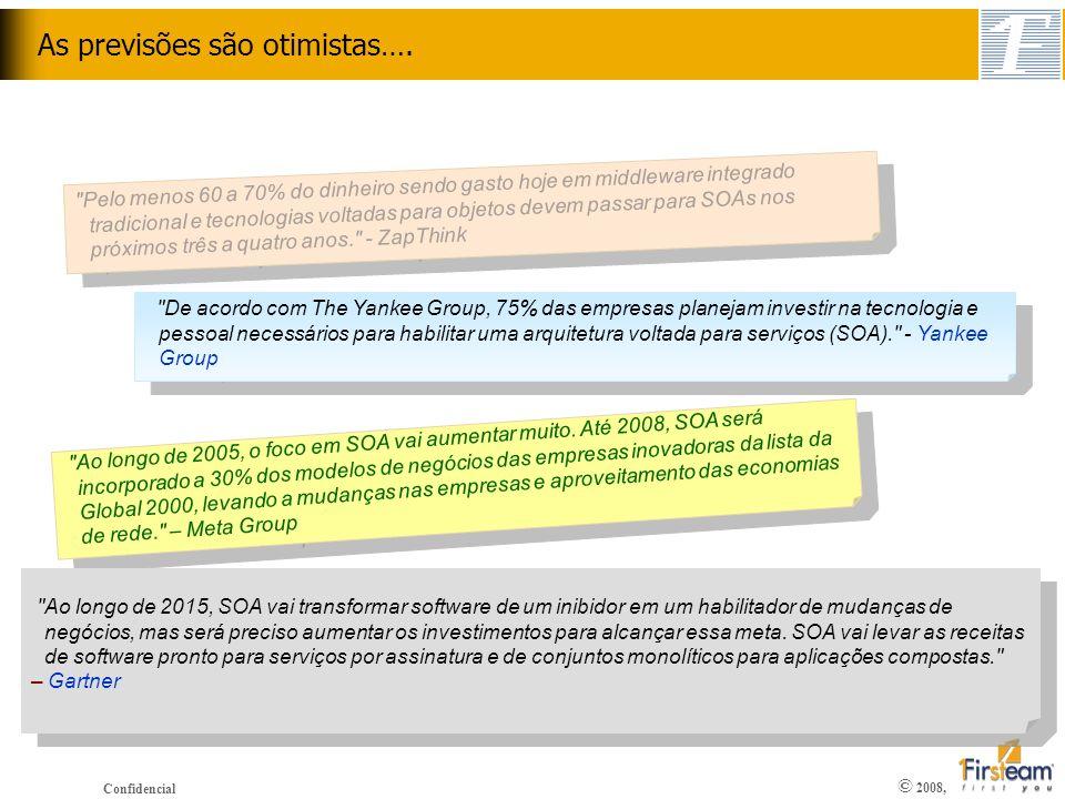 © 2008, Confidencial As previsões são otimistas….