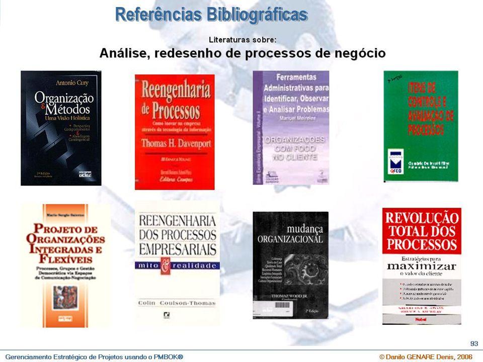 O que é Gerenciamento Estratégico de Projetos e Qual a sua importância ? © Danilo GENARE Denis, 2007 107 Referências Bibliográficas