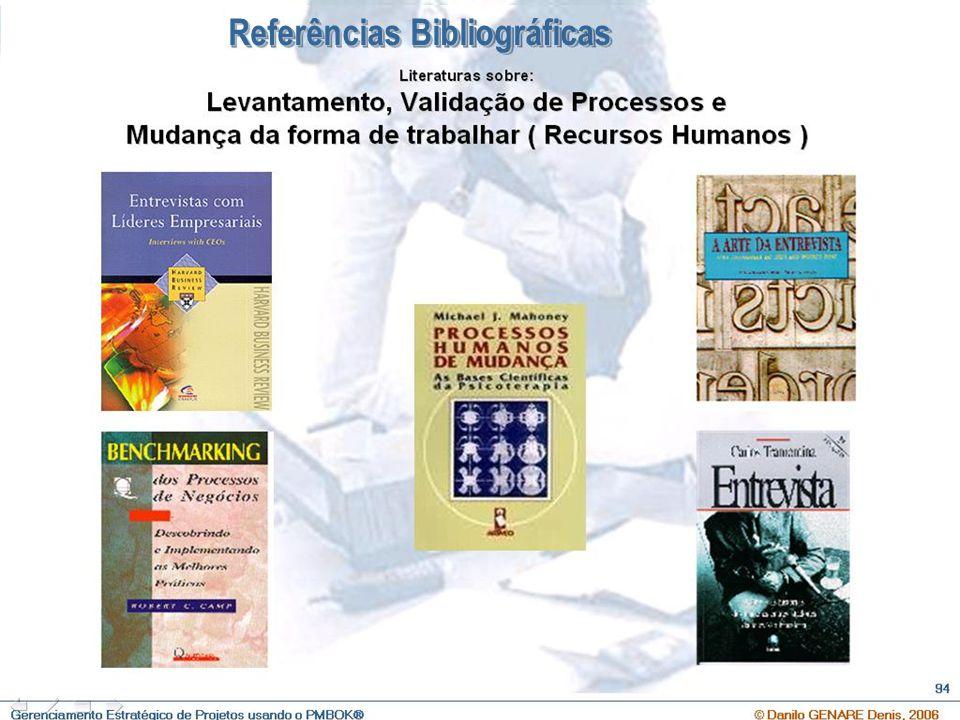 O que é Gerenciamento Estratégico de Projetos e Qual a sua importância ? © Danilo GENARE Denis, 2007 108 Referências Bibliográficas