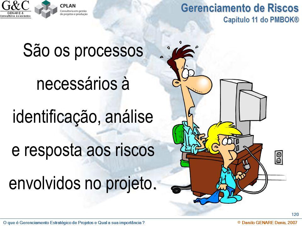 O que é Gerenciamento Estratégico de Projetos e Qual a sua importância ? © Danilo GENARE Denis, 2007 120 Gerenciamento de Riscos Capítulo 11 do PMBOK®