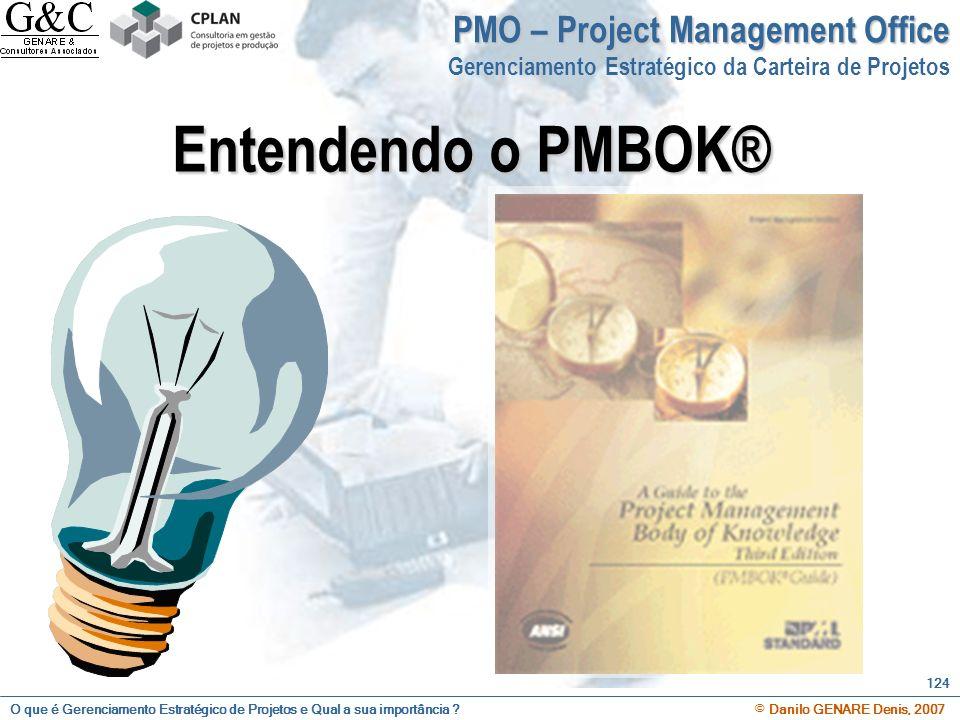 O que é Gerenciamento Estratégico de Projetos e Qual a sua importância ? © Danilo GENARE Denis, 2007 124 PMO – Project Management Office Gerenciamento