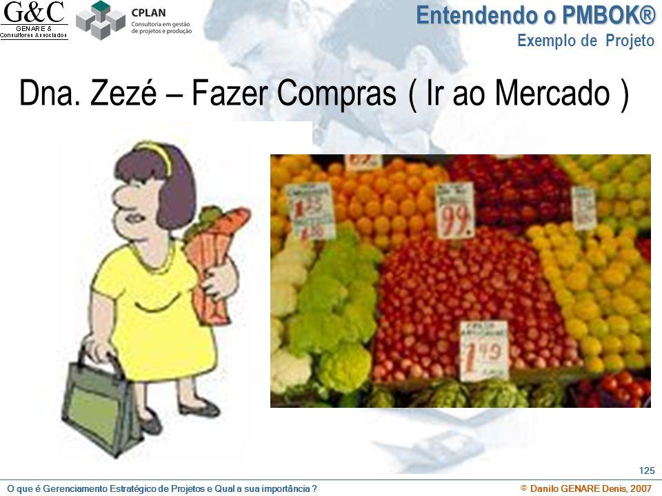 O que é Gerenciamento Estratégico de Projetos e Qual a sua importância ? © Danilo GENARE Denis, 2007 125 Dna. Zezé – Fazer Compras ( Ir ao Mercado ) E
