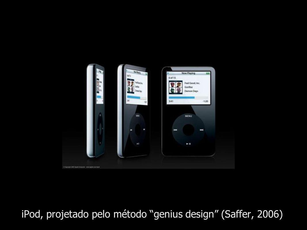 iPod, projetado pelo método genius design (Saffer, 2006)