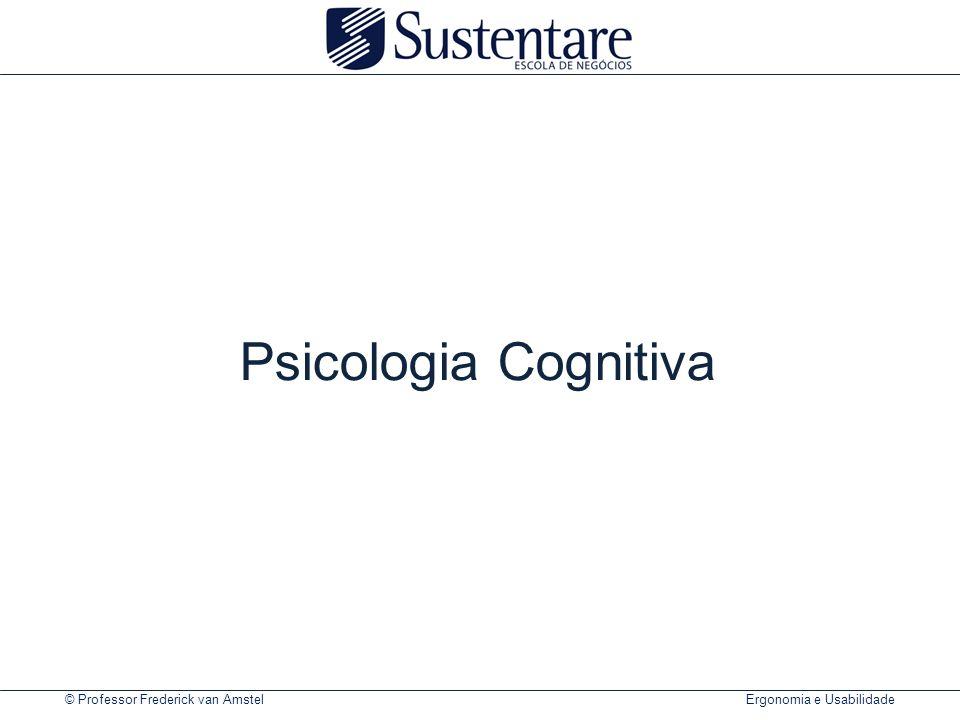 © Professor Frederick van Amstel Ergonomia e Usabilidade Modelo mental dos pedais de um carro