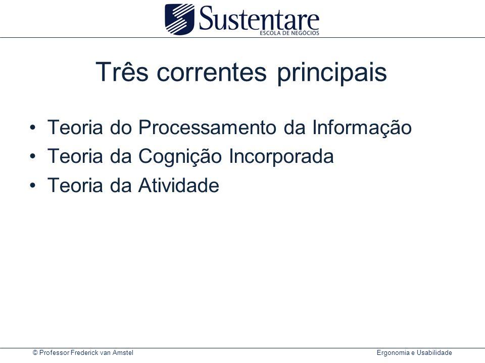 © Professor Frederick van Amstel Ergonomia e Usabilidade Exercício de card-sorting sobre o portal UFPR.br PresencialOnline