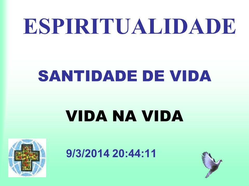 ESPIRITUALIDADE SANTIDADE DE VIDA VIDA NA VIDA 9/3/2014 20:45:549/3/2014 20:45:54