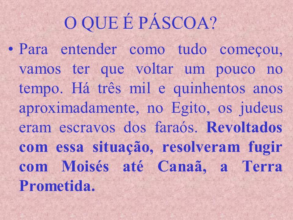 DOMINGO DE PÁSCOA Se esse dia ocorrer depois do dia 21 de abril, a Páscoa será celebrada no domingo anterior.