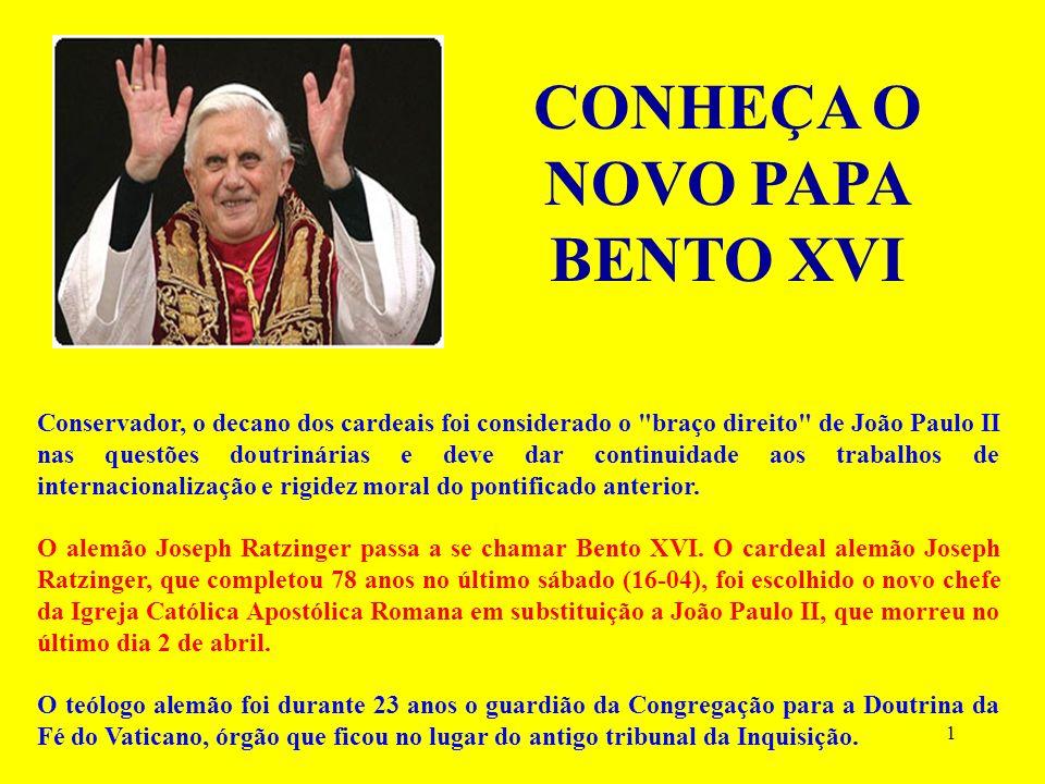 1 Conservador, o decano dos cardeais foi considerado o braço direito de João Paulo II nas questões doutrinárias e deve dar continuidade aos trabalhos de internacionalização e rigidez moral do pontificado anterior.