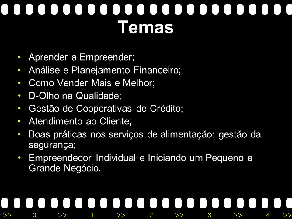 >>0 >>1 >> 2 >> 3 >> 4 >> Desenvolvimento a)Curso EAD (SEBRAE) Site: http://www.ead.sebrae.com.br/hotsite/