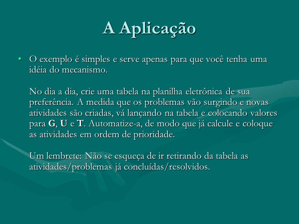 A Aplicação O exemplo é simples e serve apenas para que você tenha uma idéia do mecanismo.