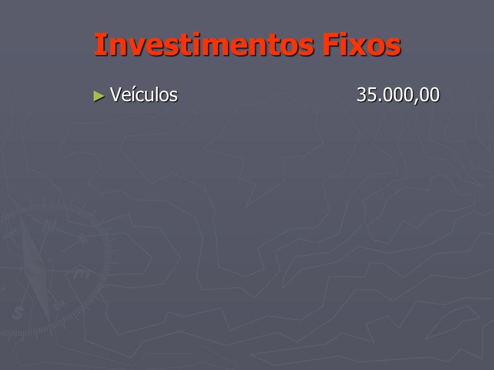 Investimentos Fixos Veículos 35.000,00 Veículos 35.000,00