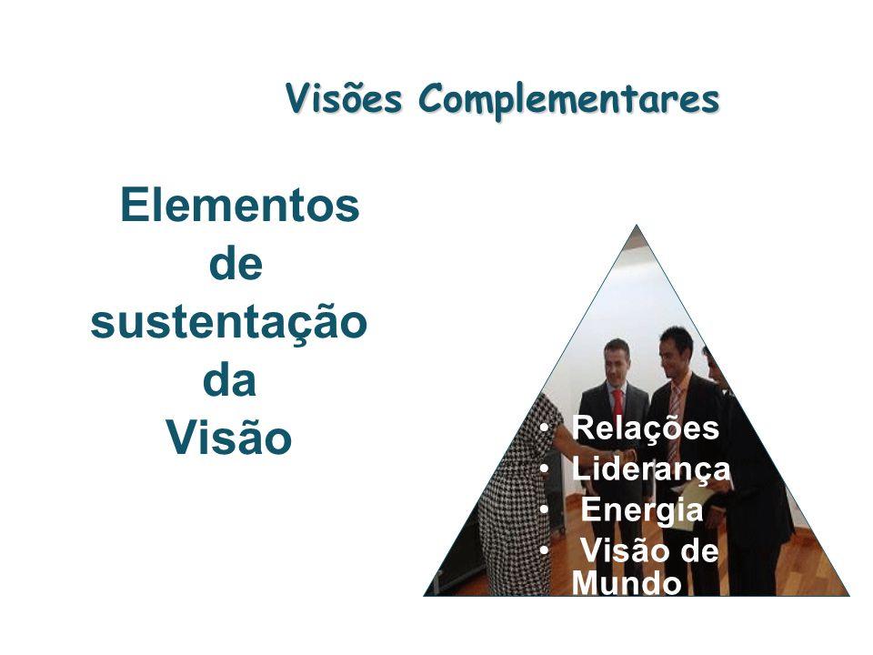 Visões Complementares Relações Liderança Energia Visão de Mundo Elementos de sustentação da Visão