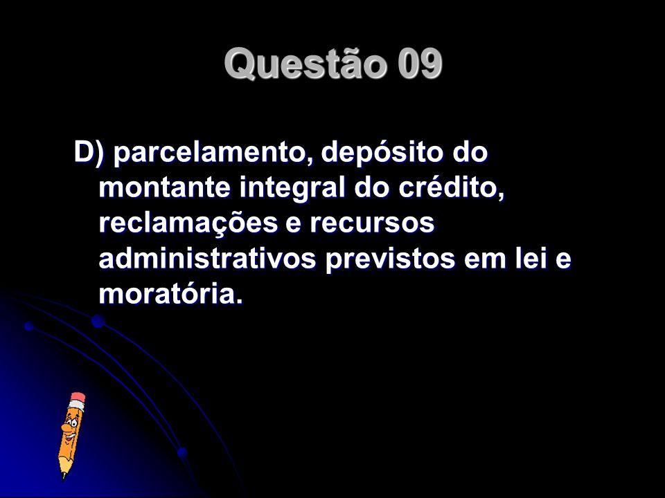 Ainda que constituído, o crédito tributário pode ter sua exigibilidade suspensa, em razão de: A) consignação em pagamento, decisão judicial definitiva